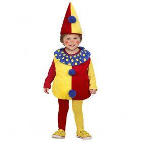 Opgevulde Clown Kind Baby Pierot Kostuum Kind