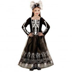 Mexicaanse Skeletria Kind Meisje Kostuum