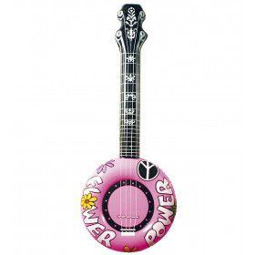 Opblaasbare Banjo 100 Centimeter Roze Flower Power