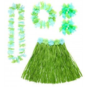 Hula Hula Hawaii Set Groen