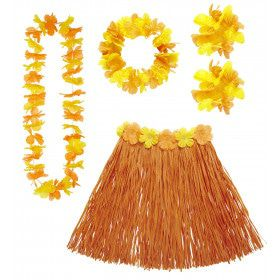 Hula Hula Hawaii Set Oranje