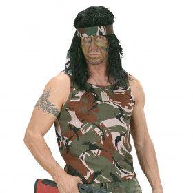 Mouwloos Camouflageshirt Man