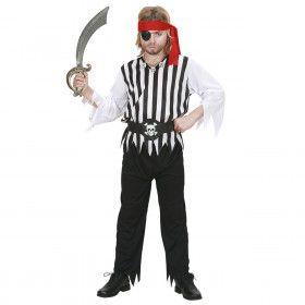 Piraten Jongen Rafelig Galei Kostuum