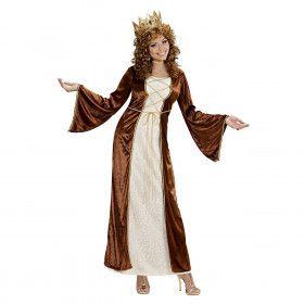 Elegante Middeleeuwse Prinses, Fluweel Kostuum Vrouw
