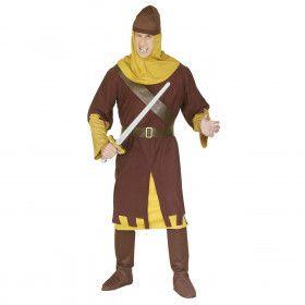 Middeleeuwse Soldaat Ridder Graniet Kostuum Man