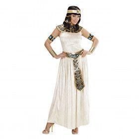 Lange Egyptische Keizerin Kostuum Vrouw