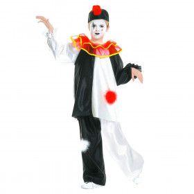 Pierrot Traditioneel Kind Kostuum Kind