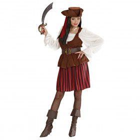 Traditionele Piratendame Hoge Zeeen Kostuum Vrouw