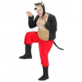 Grappige Boze Wolf Kostuum Man