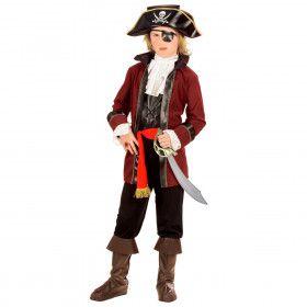 Piraat Roofeiland, Jongen Captain Kirk Kostuum