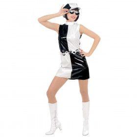 Schoonheid Sixties, Vinyl Pop Art Kostuum Vrouw