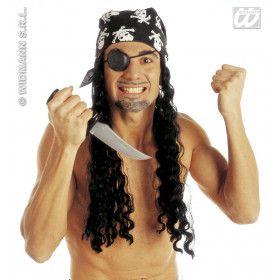 Piratenpruik Met Hoofddoek En Ooglap