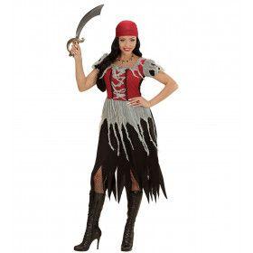 Boekanier Killer Piraten Dame Vrouw Kostuum