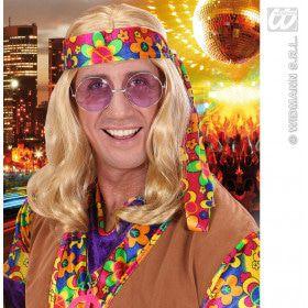 Pruik Hippie Lennon Blond