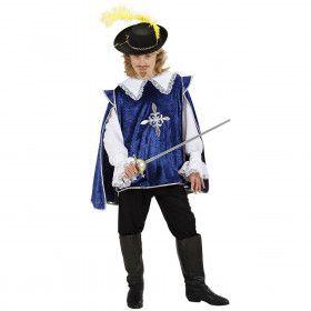 Dartagnan De Musketier Blauw Kostuum Jongen