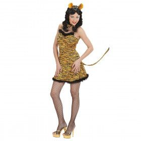 Sexy Tijger Golden Tiger Kostuum Vrouw