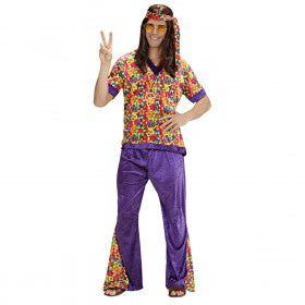 Hippie Dude Fluweel Mr Dude Kostuum Man