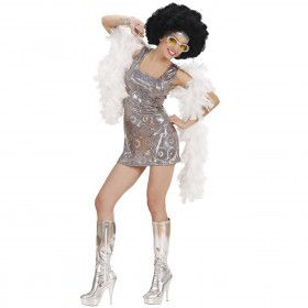70s Disco Diva Holografisch Fever Girl Kostuum Vrouw