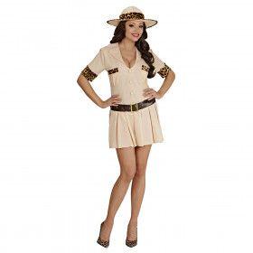 Safari Meisje Vrouw Kostuum