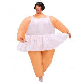 Opblaasbaar Ballet Chubby Dancer Kostuum Man