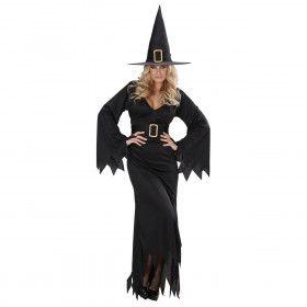 Elegante Heks Black Witch Kostuum Vrouw