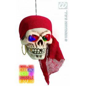 Piratenschedel Met Kleuren Licht 40 Centimeter
