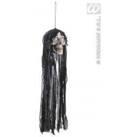 Hangende Schedel Met Bewegende Kaak + Lichtgevende Ogen - 70 Centimeter