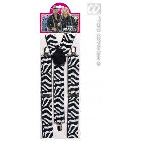 Riem Zebra Zwart / Wit