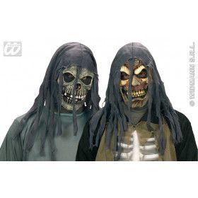 Horror Masker Met Kap, Schedel Of Zombie