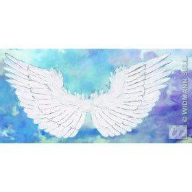 Vleugels Wit Met Zilver Glitter 86x42 Centimeter