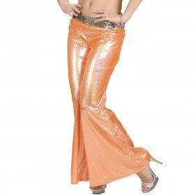 Holografische Broek Dames, Oranje Vrouw
