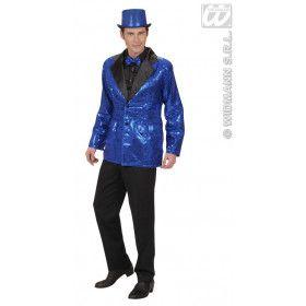 Pailletten Colbert Blauw Man