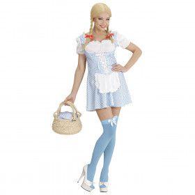 Miss Muffet Lichtblauw Kostuum Vrouw