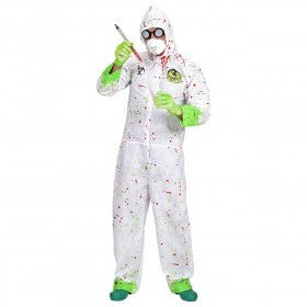 Dr. Toxic Jumpsuit Horror Dokter Volwassen Medium / Large Kostuum Man