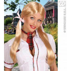Pruik, Schoolmeisje Blond