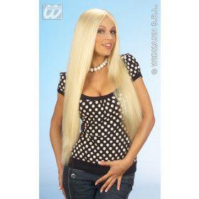 Pruik, Blond Extra Lang