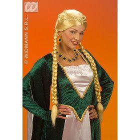 Pruik Middeleeuwse Koningin Blond