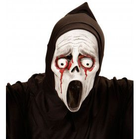 Kindermasker Schreeuwende Geest Met Bloedende Ogen Popping Screamer