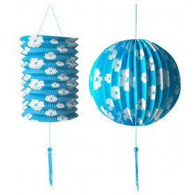 Feestelijke Decoratie Set Blauw / Wit