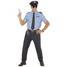 Blauw Realistische Politie Man Kostuum