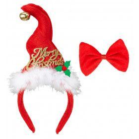 Grappige Kerst Mini Santa Mutsje With Belletjes En Strikje