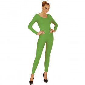 Unicolor Body Volwassen, Lang, Groen Vrouw Kostuum