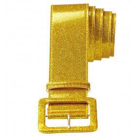 Glamour Riem Glitter 120 Centimeter Goud