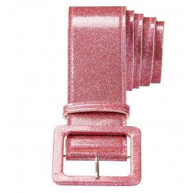 Glamour Riem Glitter 120 Centimeter, Roze