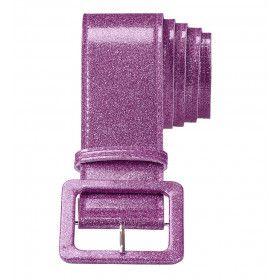 Glamour Riem Glitter 120 Centimeter, Paars