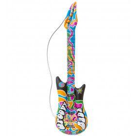 Hippie Opblaasbare Gitaar Groovy 105 Centimeter