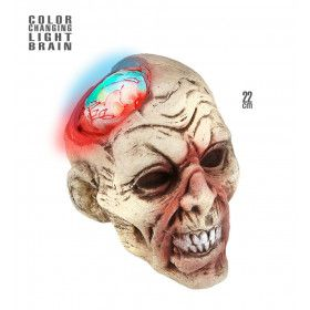 Zombie Hoofd Met Kleurveranderend Licht, 2 Centimeter Lichtgevend