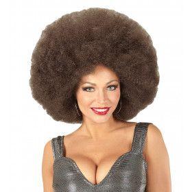 Soul Diva Pruik, Afro Extra Groot Koffie Kleur