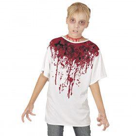 Hals Doorgesneden Bloederig T-Shirt Jongen