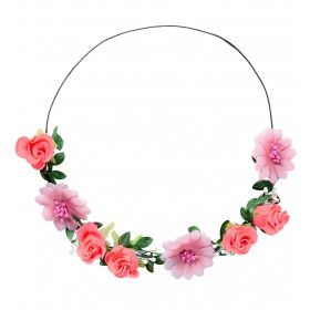 Bloemenkind Hoofdband Roze Bloemen